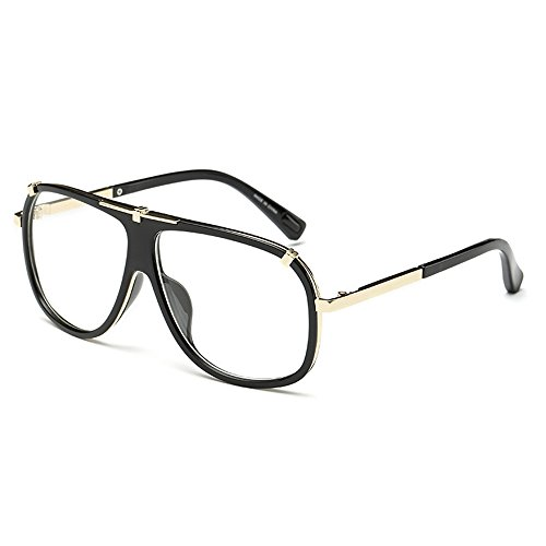 Vision para Transparente Sunglasses Oversize Frame para Aviator negros Lentes Big Glasses con estuche Eye Boss Wear Conducción Day hombres hombre Hp0Ewp