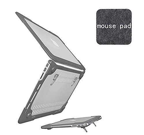 (SPESSN [Heavy Duty Series] Hard Shell Protective Cover Case, for Apple MacBook Pro Retina 13 Inch Model A1502/A1425 (Grey))