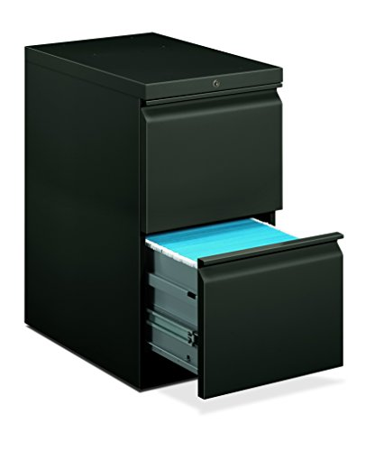 (HON 33823RS 22-7/8-Inch Efficiencies Mobile Pedestal File with 2 File Drawers, Charcoal)