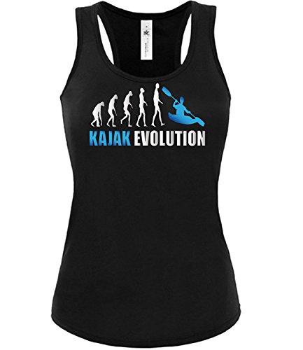 KAJAK EVOLUTION mujer camiseta Tamaño S to XXL varios colores S-XL Negro / Azul