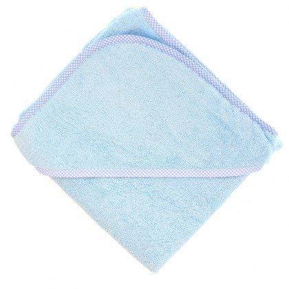 TowelsRus Toalla de Abrigo de bebé de algodón con Capucha Suave, Azul, 100%