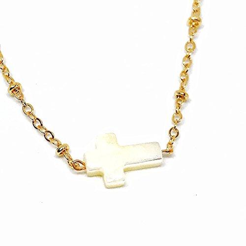 Petite Cross Necklace 15.7