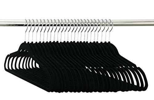 Organize It All Velvet Non-slip Clothing Hangers 50 Pack