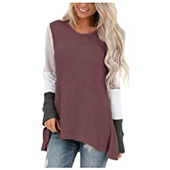 Women Tunic Knit Sweater Pullover Colorb...