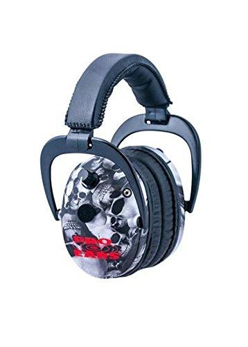 Pro-Ears Predator Gold NRR 26 Ear Muffs, Skulls by Pro Ears