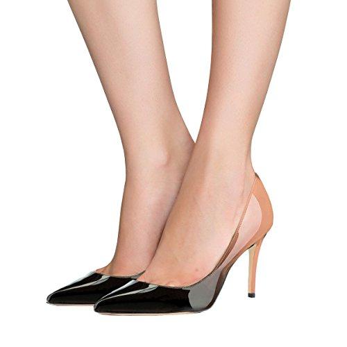 VOCOSI Chaussures Chaussures 8 femmes sexy talon cm Business à pointu talon Chaussures à à On 5 Office talons pour Slip rrw16