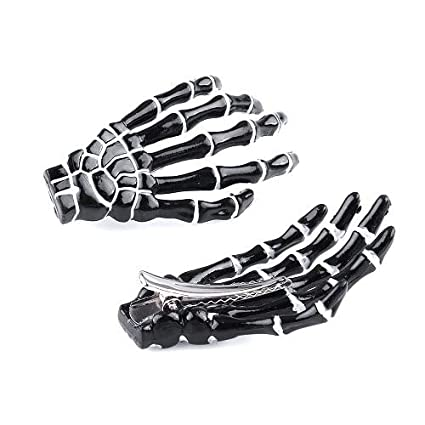 Girl's Accessories 1 Pair Skeleton Claws Skull Hand Hair Clip Hairpin Zombie Punk Horror Bobby Pins Barrette For Women Hair Accessories Latest Technology