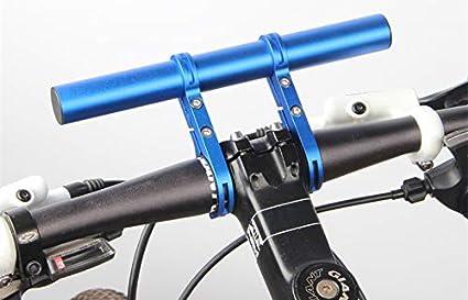 Bike Handlebar Extender Aluminum Alloy Bicycle Handlebar Extension Double Bicycle Handlebar Extension Bracket for Holding Motorcycle E-Bike Lamp Speedometer GPS Phone Mount Holder