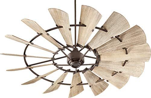 Quorum International Windmill 72″ Ceiling Fan – Oiled Bronze – 97215-86