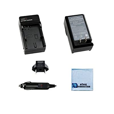 BP-110 Battery Charger for Canon VIXIA HF R20, R20, R20, R200, R21, R28, R27, R26, R206, R205 & More... Digital Cameras + Microfiber Cloth