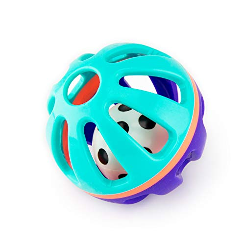 Sassy Squish & Chime Ball with Soft Touch Outer Shell and Inner Chime Ball, Ages 0+ Months
