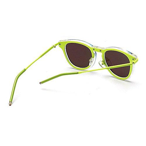 para Unisex UV de Verde Vacaciones al Sol Color Protección Verano Hombres Peggy Libre Mujeres Conducción de Colores Gu Verde Gafas Retro Aire Playa 78qnfXB