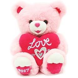Sweetheart Teddy Ultra-Plush Valentine's Day Teddy Bear Gift 2017 - Pink