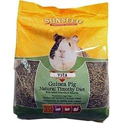Sunseed Company 36145 1 Piece Vita Sunscription Timothy Guinea Pig Food Treat, 5 Lb