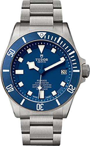 Tudor Pelagos 25600TB Blue Dial Mens Watch w/ Titanium Case & Bracelet ()