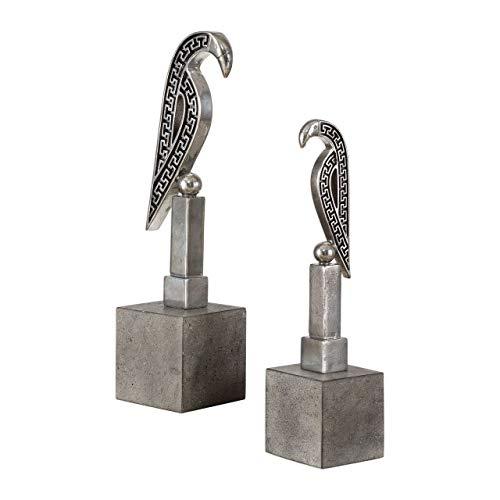(Uttermost Navya Antiqued Silver Sculptures (Set of 2))