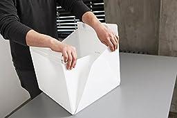 MINI Foldable Photography studio Kit, With 35 LED Lights, Black & White Backdrips Photo Studio Box ( 9×9×9 inch)