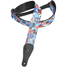 Levy's Leathers 2 Polyester Guitar Strap with Jimi Hendrix Design