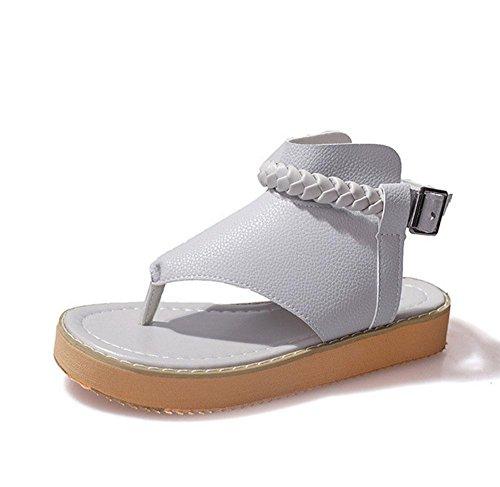 Mano sandalias femeninas de clip salvaje zapatos de punta de ocio C