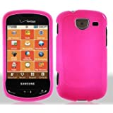 Pink Rubberized Hard Faceplate Cover Phone Case for Samsung Brightside U380