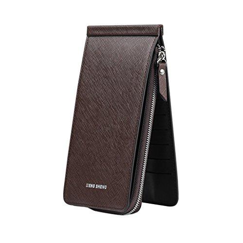 Lamdoo Mode Dame Frauen Brieftasche Lange Kreditkarteninhaber Telefon Fall Handtasche Handtasche (Pink + Schwarz) Kaffee PFjRjgfV