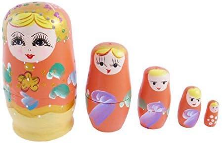 Nesting Dolls Russian Matryoshka Traditional Babushka Stacking New set 5 pcs 5in