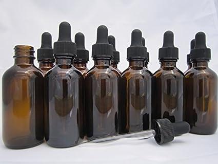 Amazon.com: dropperstop ámbar/azul cobalto Dropper Botellas ...