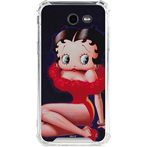 official photos 12ce4 d3354 Amazon.com: Skinit Betty Boop Red Dress Galaxy J3 (2017) Clear Case ...