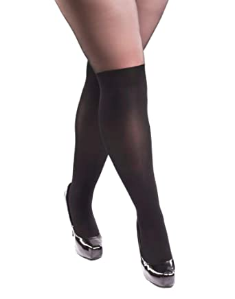 cf63e4b4b Miss Naughty Crotchless Over The Knee Tights - Plus sizes XL