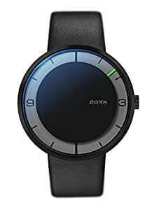 NOVA CARBON Automatic 44mm Black Edition, Botta-Design, Leather Strap, 859010BE