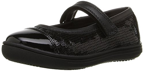 Rachel Shoes Girls' Camille Mary Jane, Black Patent, 9 M US Toddler