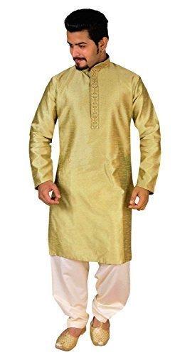 Para hombre Tradicional Salwar kurta kameez fiesta pijama sherwani 799 (XS (Cofre - 34
