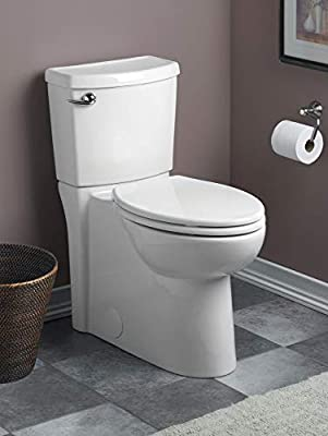 American Standard 2988101.020 Cadet 3 1.28 GPF Round Front Toilet with 12-In Rough-In, 28.2 in wide x 15.8 in tall x 30.8 in deep, White