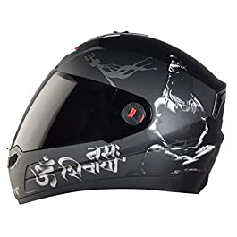 Steelbird SBA-1 Mahadev Full Face Helmet in Matt Finish Helmet Fitted with Clear Visor and Extra Smoke Visor (Large 600…