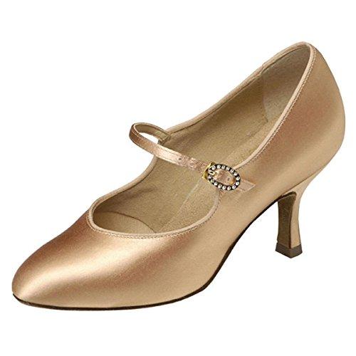 Supadance - Damen Tanzschuhe 1012 - Satin Hautfarben - Normalweite - 5 cm (2) Contour Hautfarben