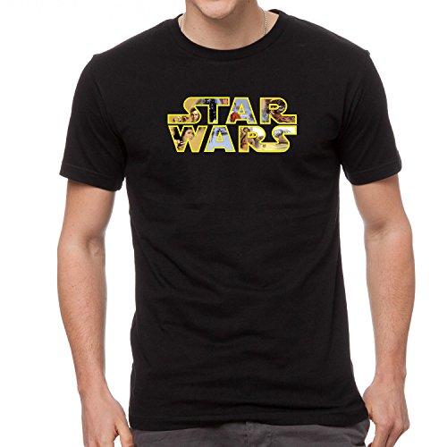Star Wars Schwarze Logo T-Shirt -694