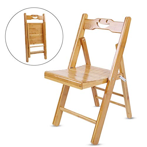 Children Bamboo Wooden Chairs, Folding Chair Garden Camping Beach Picnic Stool for Playroom, Daycare, Preschool and Home, 11.0x11.8x23.6 inch