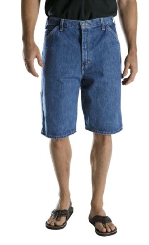 Washed Short Carpenter - Dickies Men's 11 Inch Relaxed Fit Carpenter Short, Stone Washed, 36