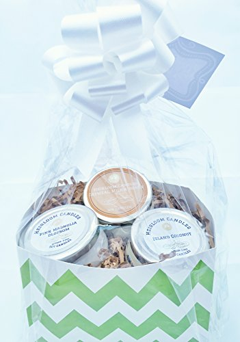 Spring and Summer Scented Soy Candle Gift Basket - Chevron Gift Basket - Custom Gift Basket - Handmade, 3.3oz each