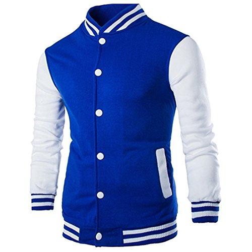 Mens Varsity Jacket Slim Fit Premium Thick Bomber Baseball