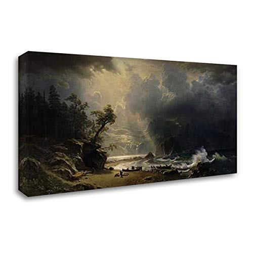 Puget Sound of The Pacific Coast, 1870 23x16 Gallery Wrapped Stretched Canvas Art by Bierstadt, Albert (Albert Bierstadt Canvas)