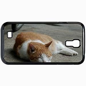 Fashion Unique Design Protective Cellphone Back Cover Case For Samsung GalaxyS4 Case Cat Black