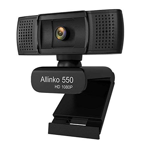 Webcam 1080P Full HD, Allinko 550 USB Web Camera with Microphone Widescreen  Video Calling and Recording for Windows 10 8 7 XP Mac OS X, Wide Angle