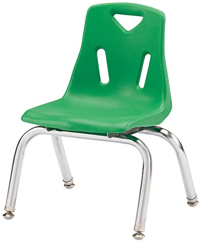 Berries 8140JC1119 Stacking Chair with Chrome-Plated Legs, 10