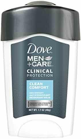 Dove Men+Care Clinical Antiperspirant Deodorant Stick Clean Comfort 1.7 oz