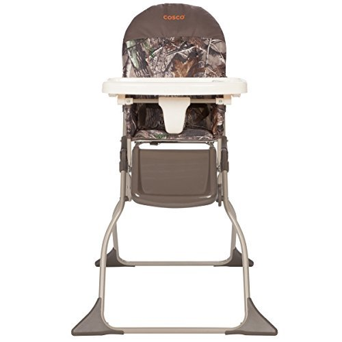 Cosco Simple Fold High Chair, Sets Up in Seconds, Easy to Clean and Pack Away, Realtree