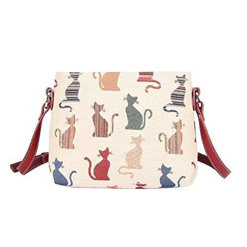 Tapestry Crossbody Style Handbag Cheeky Designs Cat Cat Signare In pwgqCq7