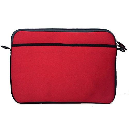 Kroo Tablet/Laptop Hülle Sleeve Case mit Schultergurt für Apple iPad 3Verizon rosa rose rot