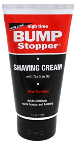 High Time Bump Stopper Shaving Cream With Tea Tree Oil 5oz Tube (2 Pack)