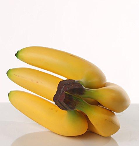5 STCK. Deko Obst k/ünstliches Obst 20CM BANANEN